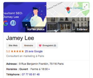 Exemple google my business