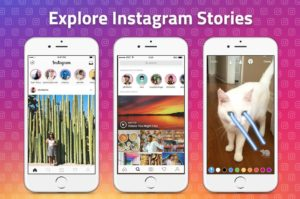 Instagrma explore stories